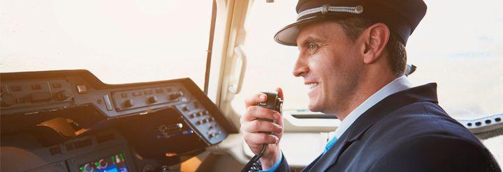 pilot speaking english