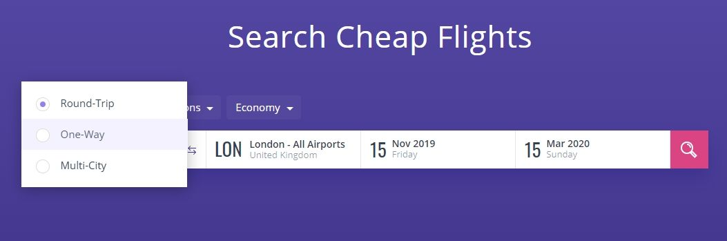 seach cheap flights