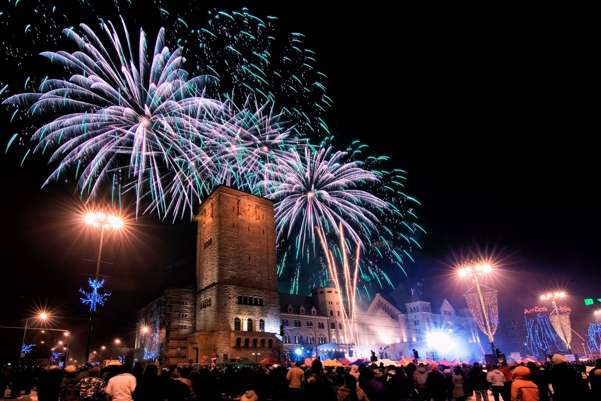 new year fireworks poland